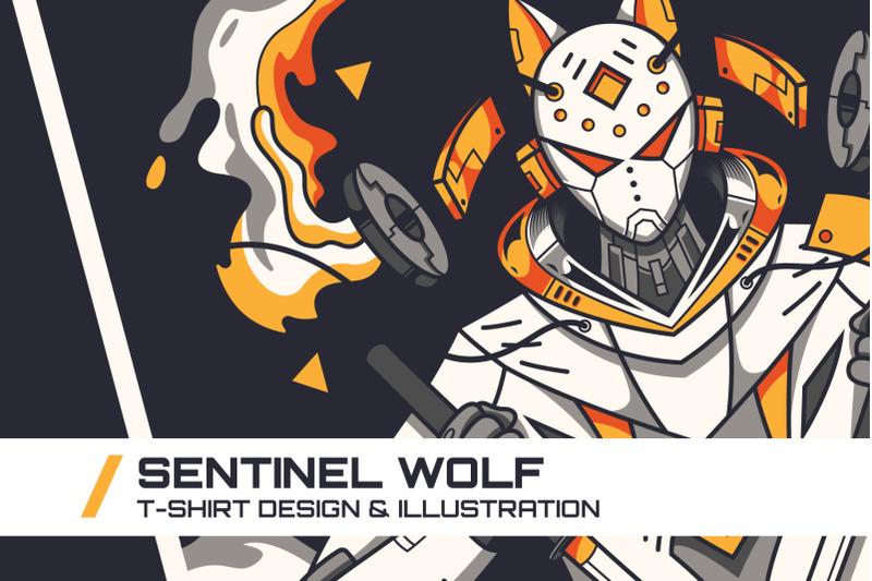 sentinel-wolf-t-shirt-illustration