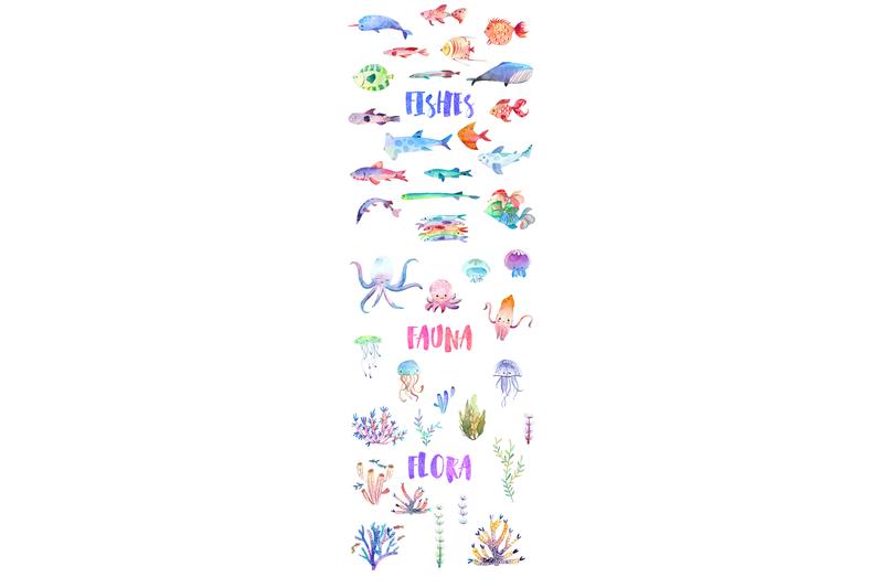 undercute-watercolor-fish-set