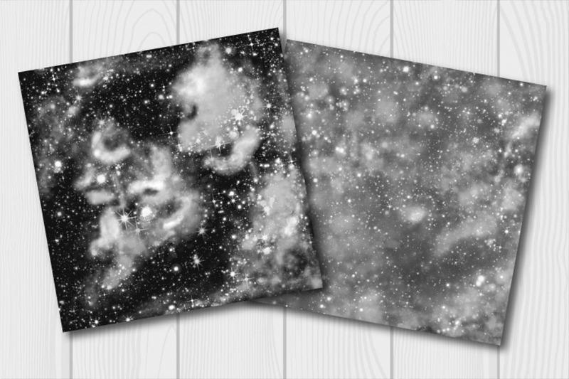 monochrome-galaxy-digital-paper-starry-sky