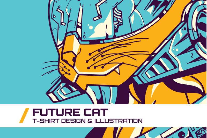 future-cat-t-shirt-illustration