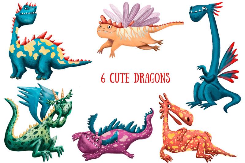 cute-dragons-clip-art-set
