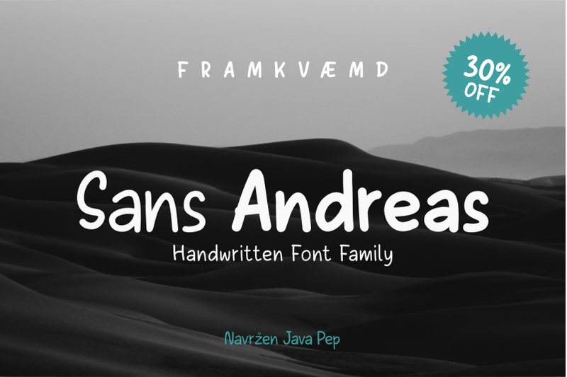 sans-andreas-handwritten-family