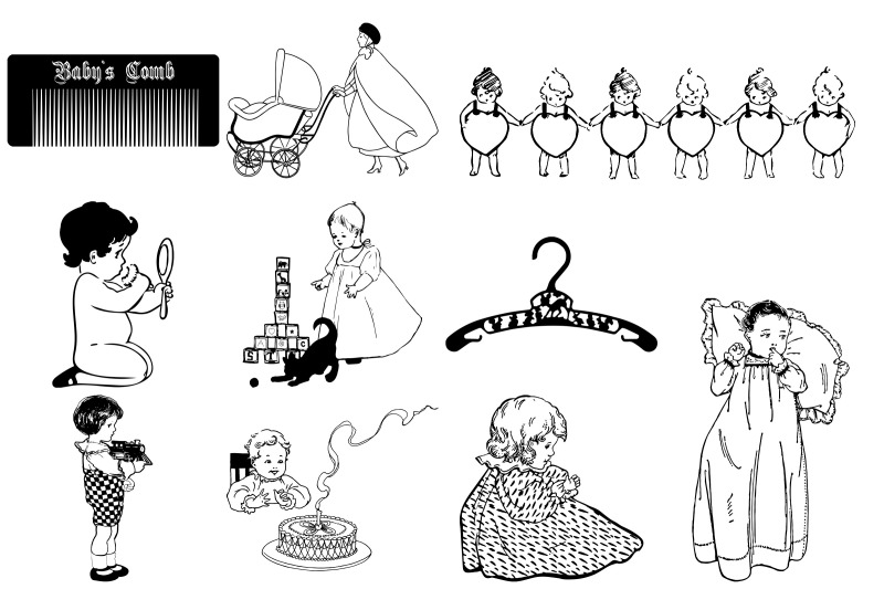 vintage-babies-toddlers-amp-moms-vector-ai-eps-png