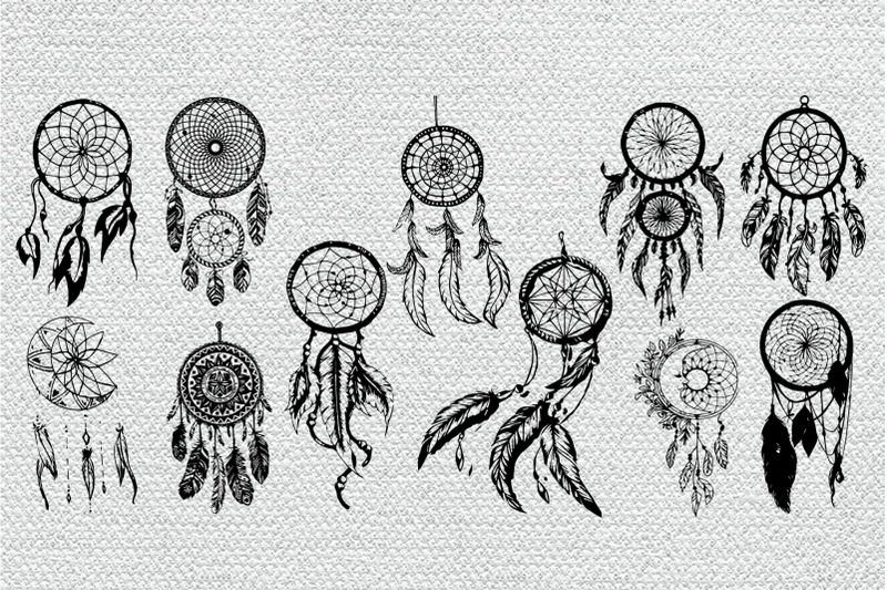 dream-catchers-vector-collection