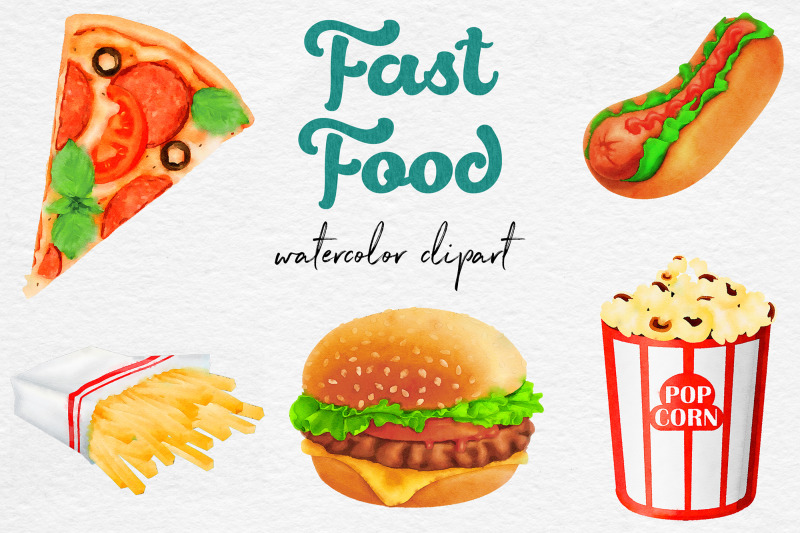 watercolor-fast-food-clipart