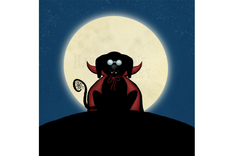 one-halloween-12x12-inch-background-illustration-vampire-dog