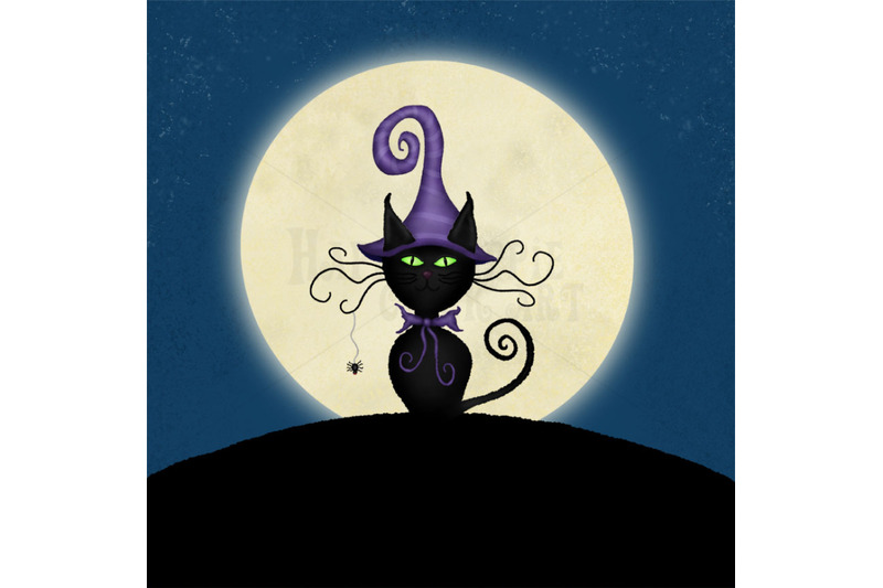 one-halloween-12x12-inch-background-illustration-witch-cat