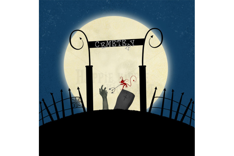 one-halloween-12x12-inch-background-illustration-cemetery