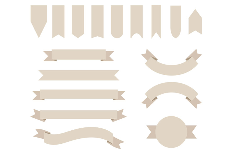 khaki-tan-badge-amp-banner-clip-art-set