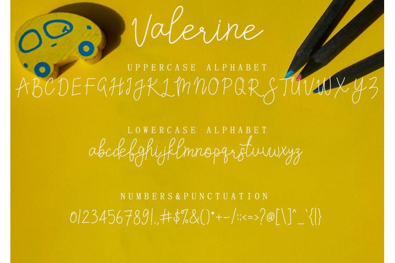 valerine-font-script