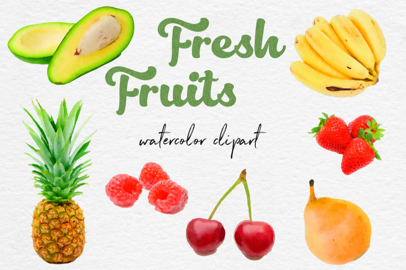 watercolor-fruits-clipart-fresh-fruit-clipart