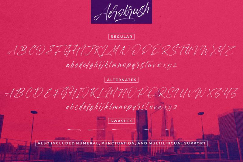 aerobrush-font