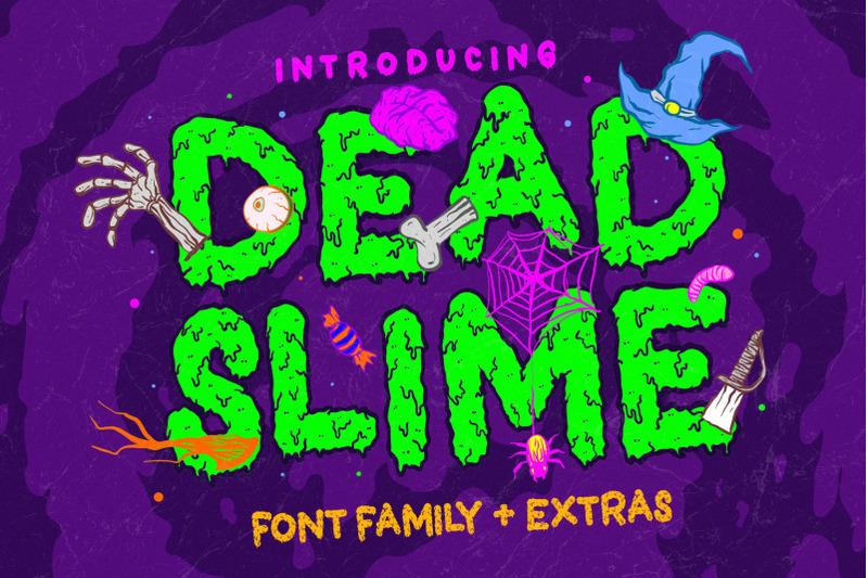 dead-slime-6-fonts-extras-50-illustrations