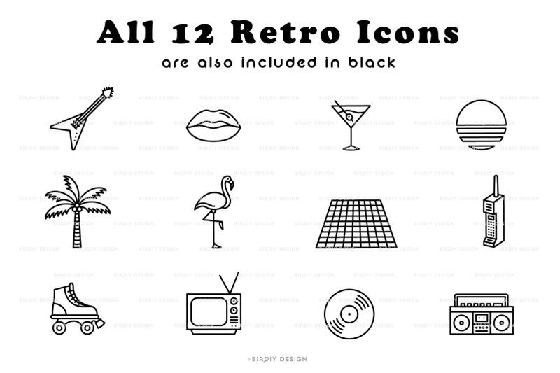retro-glow-80s-neon-icon-set