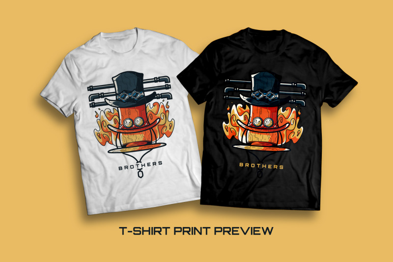 brothers-t-shirt-illustration