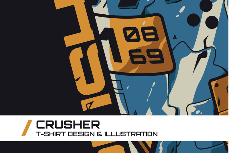 crusher-t-shirt-illustration