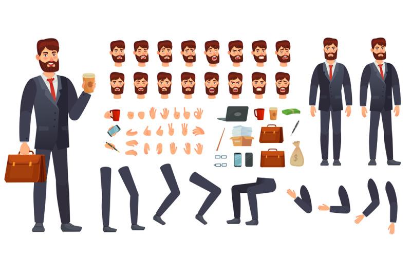 cartoon-businessman-character-kit-business-characters-constructor-di