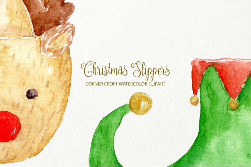 watercolor-christmas-slipper-illustration