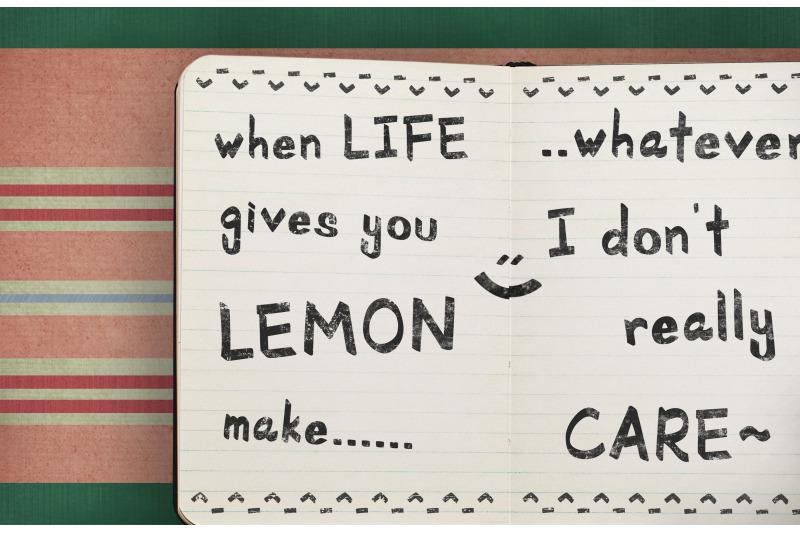 school-rules-a-handwriting-font