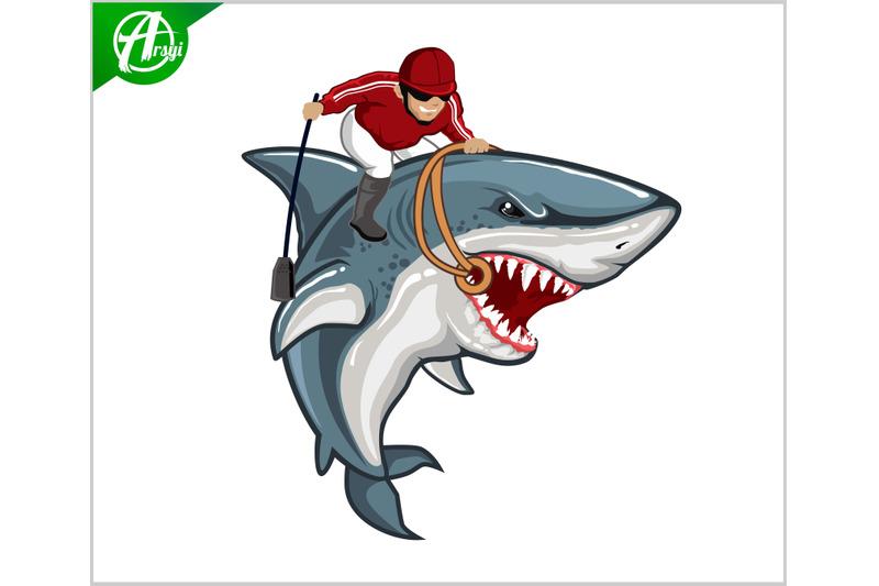 shark-jockey