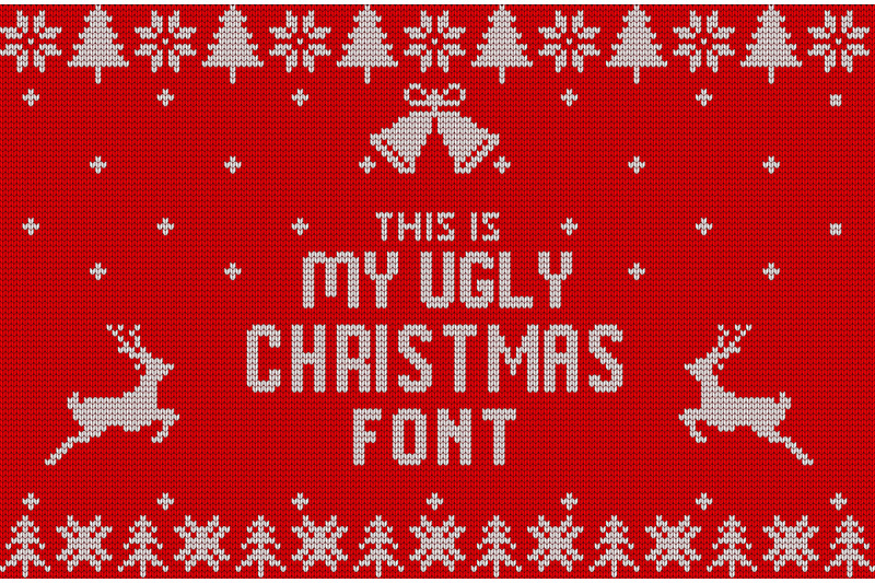 christmas-knitted-font