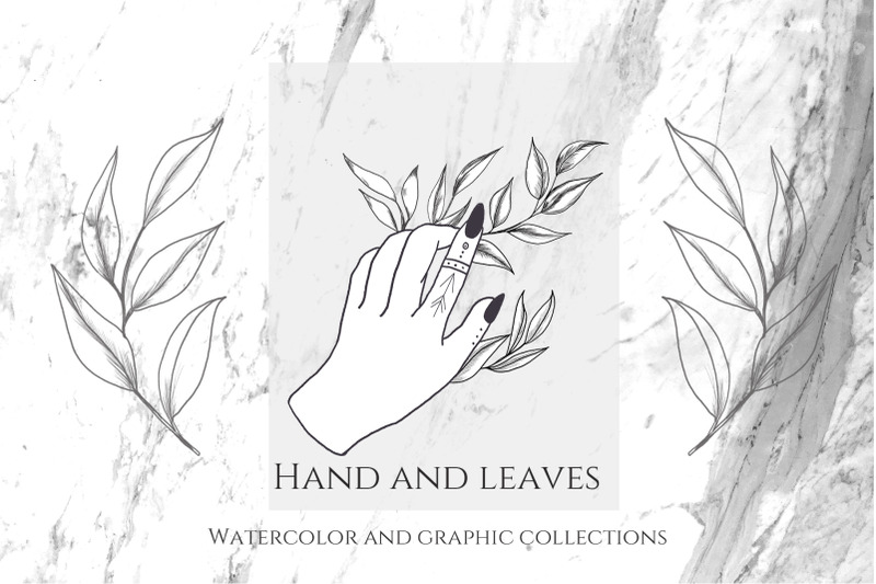 hands-and-leaves-watercolor-and-graphic