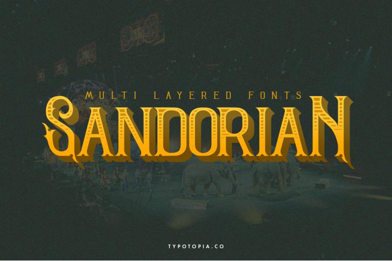 sandorian-multi-layered-fonts