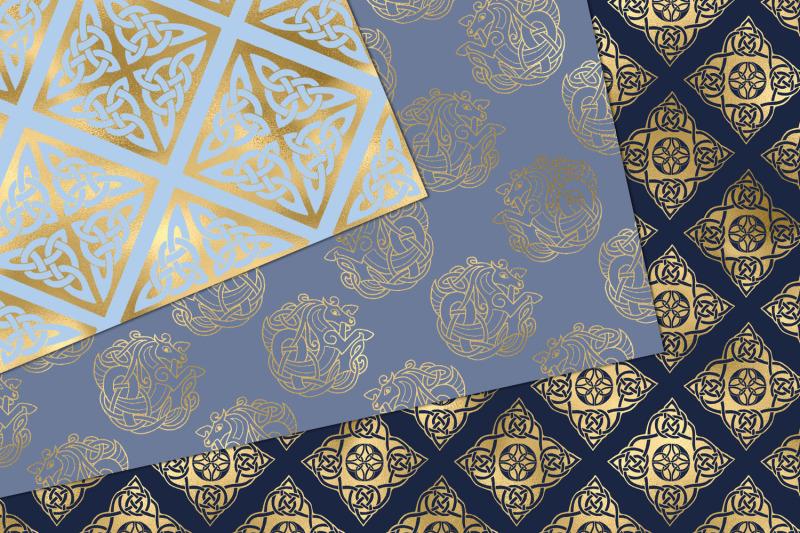 blue-and-gold-celtic-digital-paper
