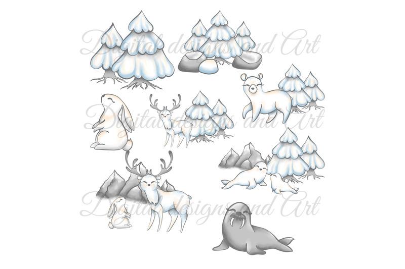 cute-polar-animals-clipart