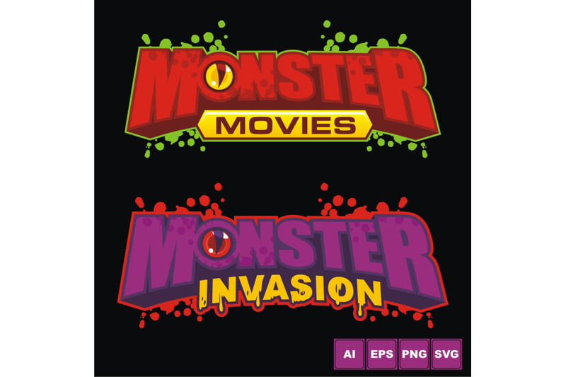 monster-invasion-logo-design