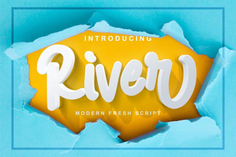 river-modern-fresh-script