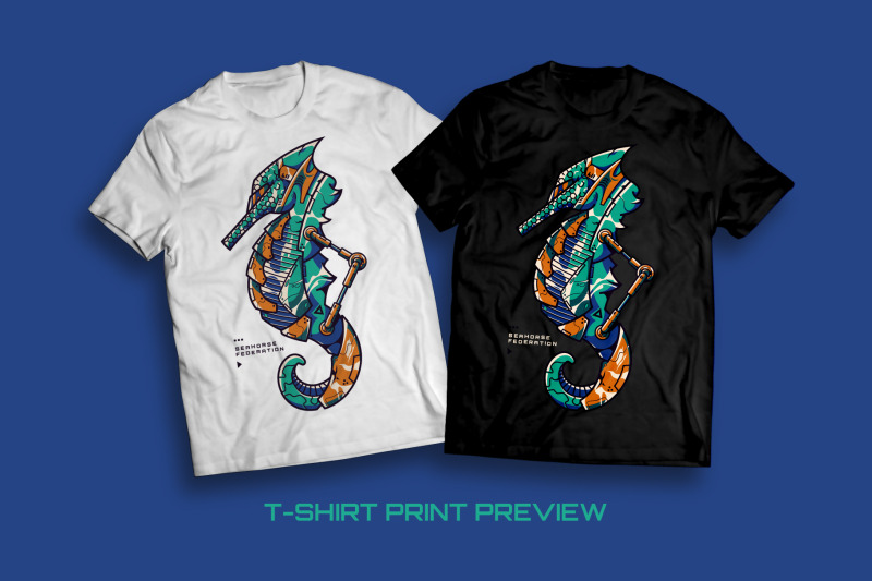 seahorse-federation-t-shirt-illustration
