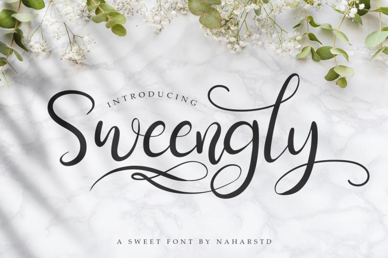sweengly-sweet-script-font