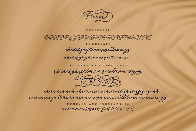 flaura-a-modern-monoline-script