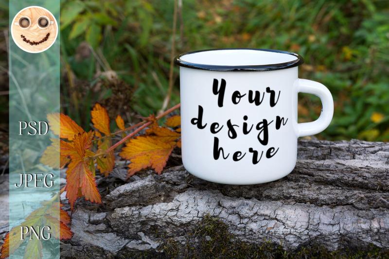 Free White coffee cappuccino mug mockup with pink tulip. (PSD Mockups)