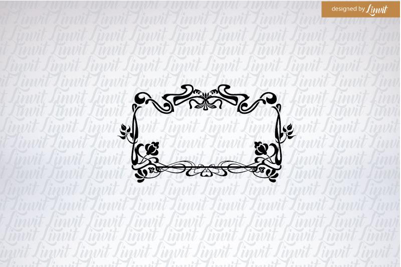wedding-logo-custom-wedding-logo-art-nouveau-wedding-logo
