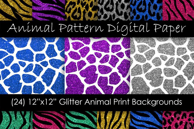 glitter-animal-print-digital-paper-zebra-leopard-tiger-and-giraffe