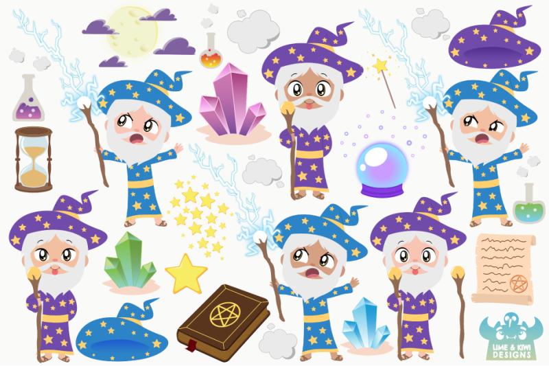 magical-wizards-clipart-instant-download-vector-art