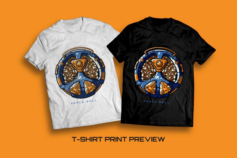peace-ball-t-shirt-illustration