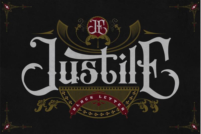 justile-black-letter