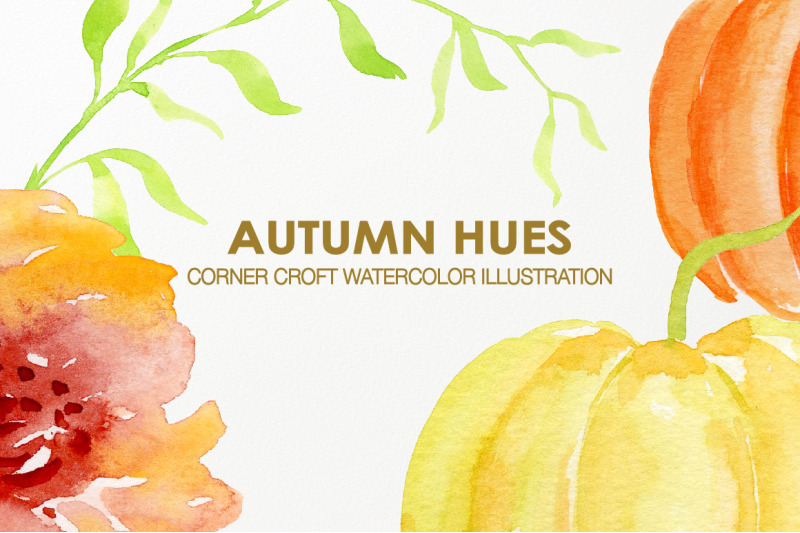 watercolor-autumn-hues-pumpkin-flower-clipart