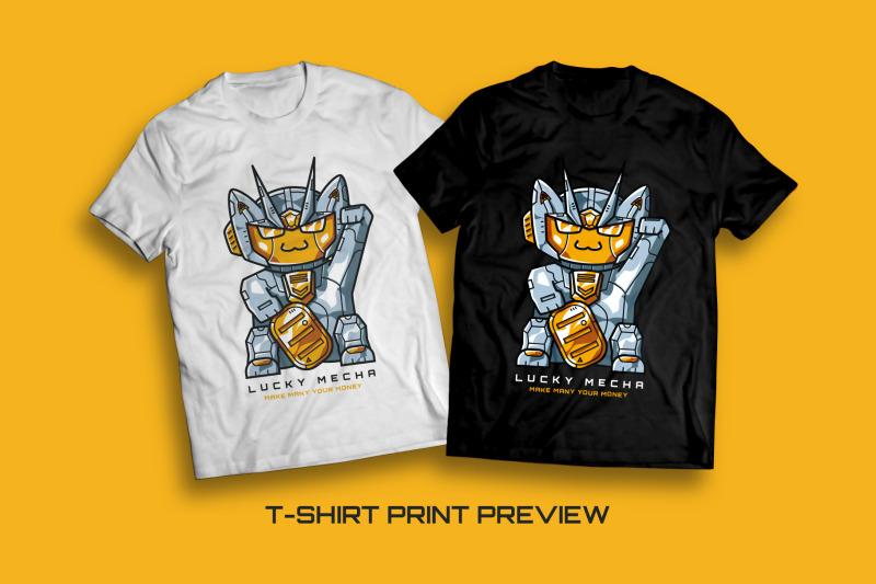 lucky-mecha-t-shirt-illustration