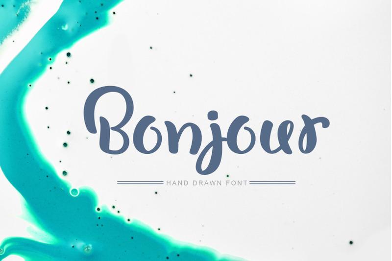 bonjour-hand-drawn-font