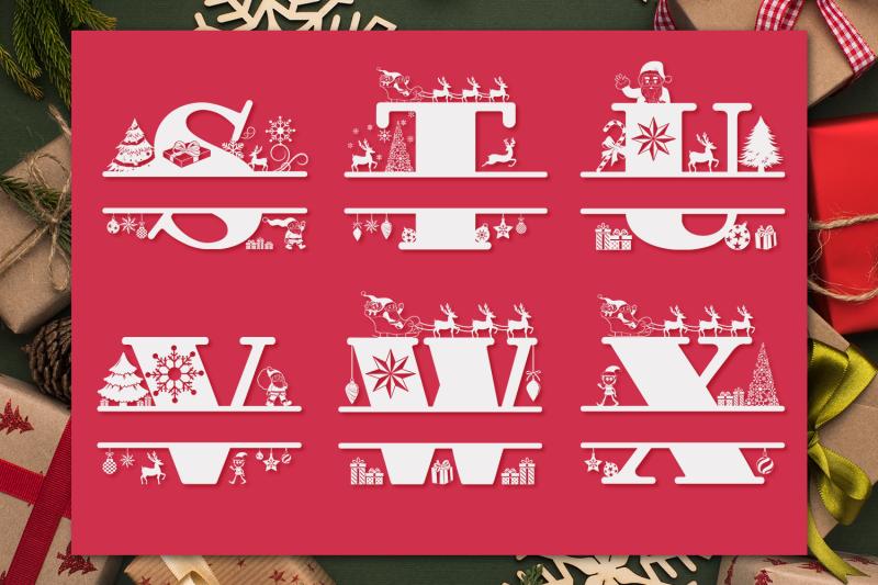 christmas-monogram-letters-christmas-split-letters