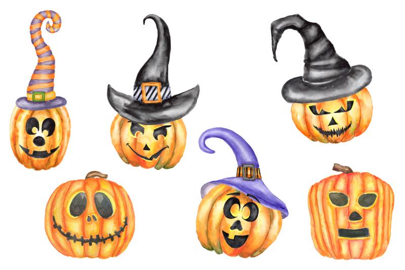 watercolor-halloween-set