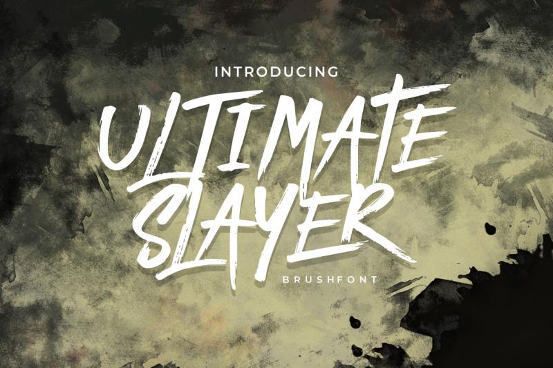 ultimate-slayer-handbrush-font