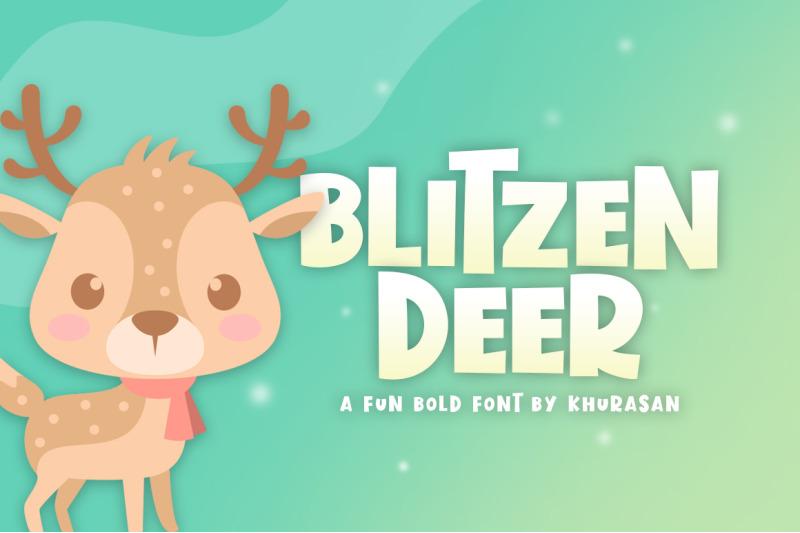 blitzen-deer-font