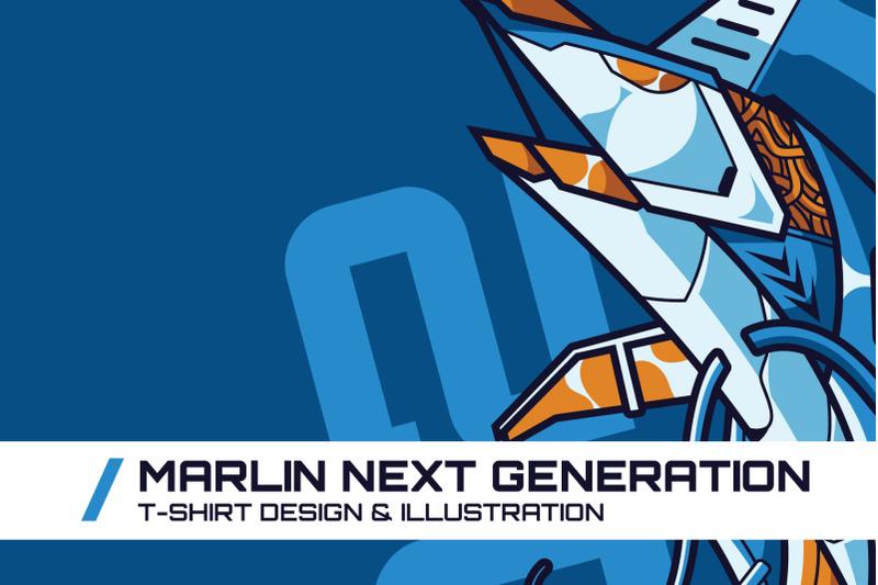 marlin-next-generation-t-shirt-illustration