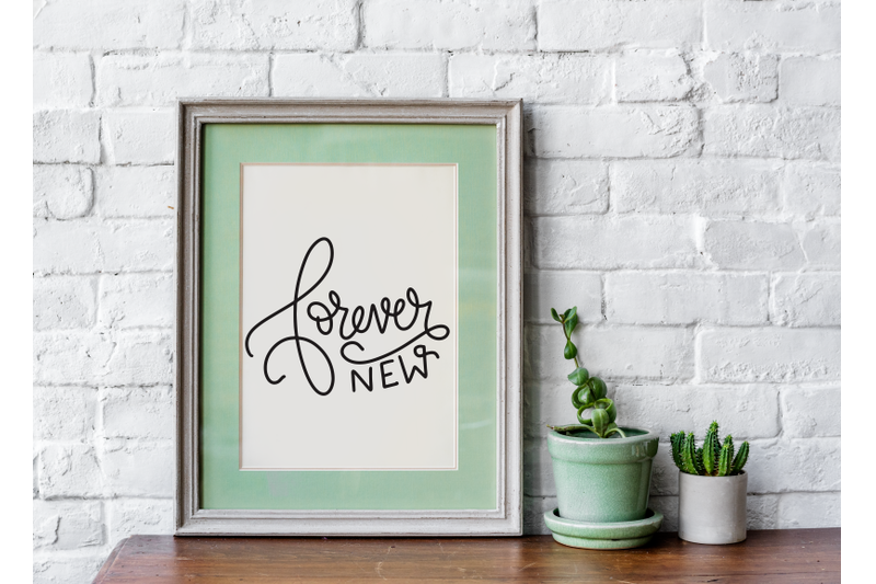 forever-new-phrase-and-quote-lettering