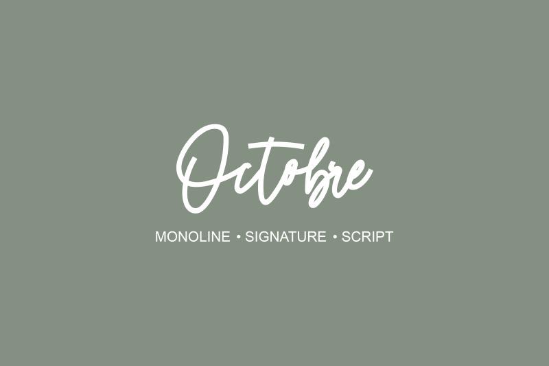 octobre-monoline-font